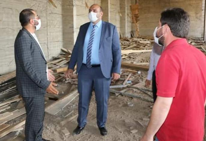 Başkan Orhan, inşaatları denetledi