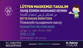 Başkan Mahmut Uçar'ın Maske Hassasiyeti