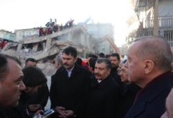 Cumhurbaşkanı Erdoğan Elazığ'da inceleme yaptı