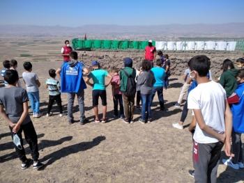 Gençlerden Pir Ali Baba Türbesine Ziyaret
