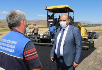 Gurup köylerine 600 bin ton asfalt