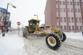 Yakutiye Belediyesi'nde Kar mesaisi