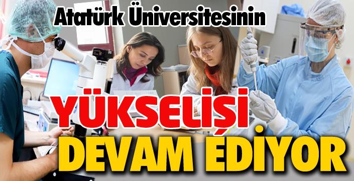 Atatürk Üniversitesi'nin yükselişi devam ediyor